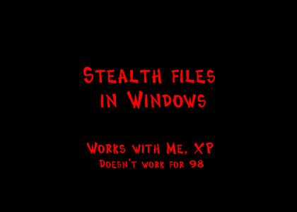 Stealth files in Windows (digg it + text version)