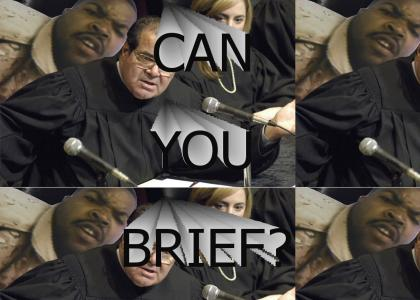 Justice Scalia with Ice Cube concurring: Can you brief?