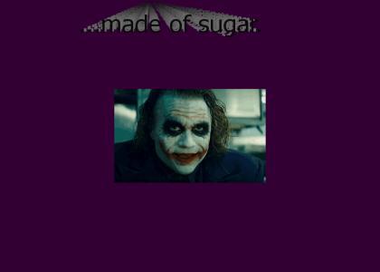 The Joker's makeup is...