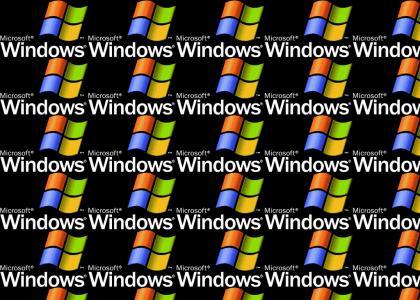 Windows XP logo and jingle