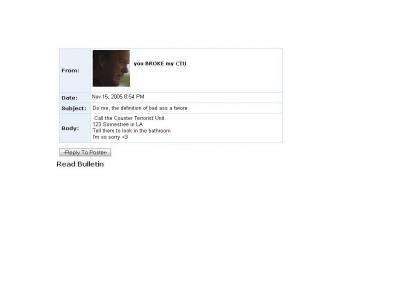 Jack Bauer Myspace Suicide