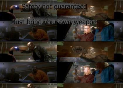 Safety not guaranteed. Snakes on a Plane.