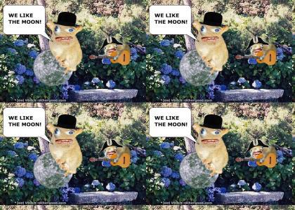 The Sponge Monkeys like the moon