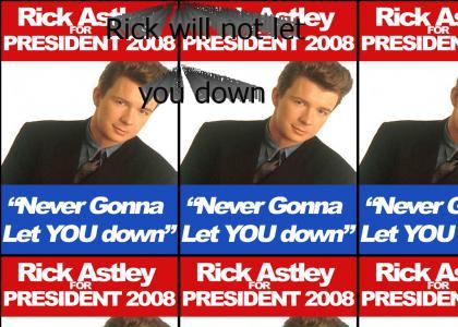 Rick Astley has a Prez banner