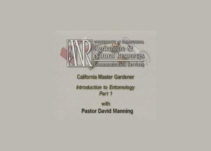 Pastor David Manning, Entomologist