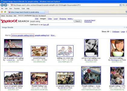 Yahoo! Search: People Eating