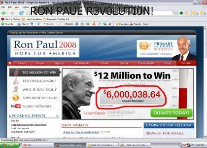 Ron Paul: $6 million dollar man!