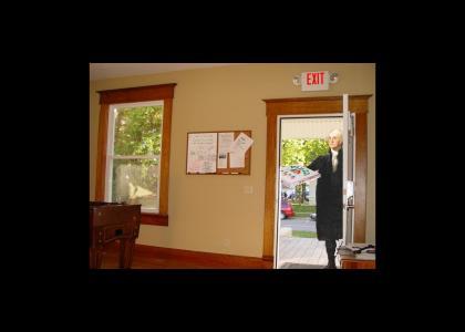 Get the door; it's GW