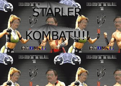 STAPLER KOMBAT!!!!!