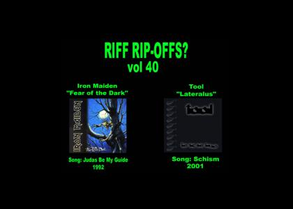 Riff Rip-Offs Vol 40 (Iron Maiden v. Tool)