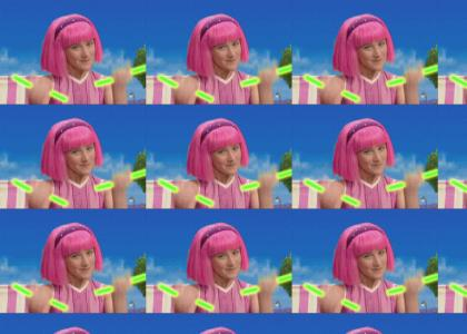 LazyTown: Stephanie LOVES to rave!