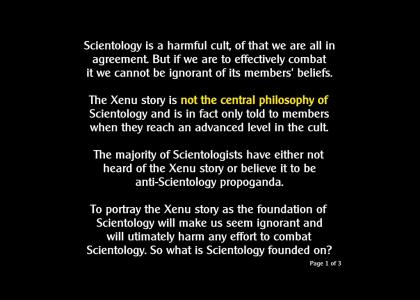 Crucial info for anyone opposed to Scientology