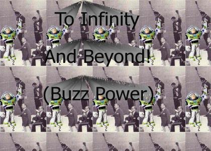 Buzz Lightyear Shows Black Power