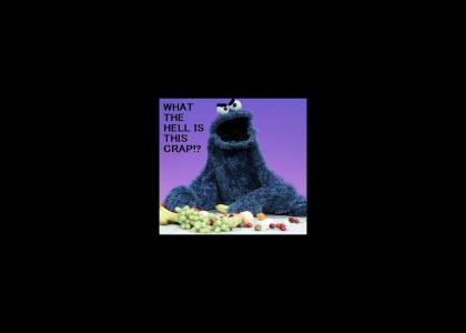 Cookie Monster is NOT Having A Wonderful Time