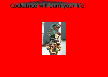 Cockatrice will burn your life!