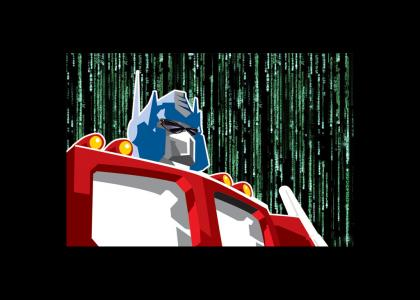 Optimus Prime in the Matrix