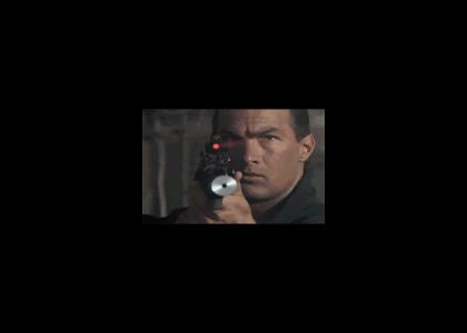 Seagal plays laser tag