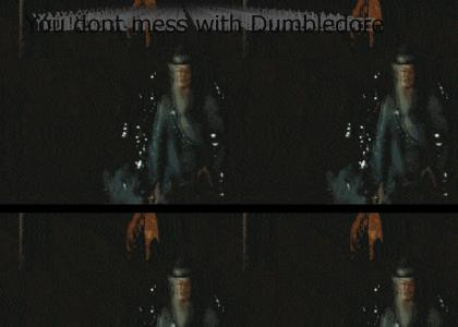 Dumbledore chokes Harry