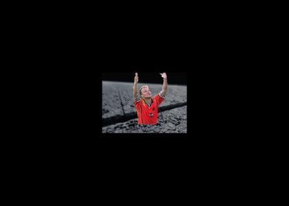 Dennis Bergkamp destroys the Death Star