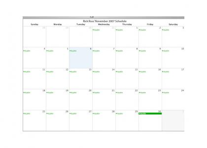 Rick Ross' Calendar