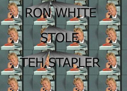 "Ron ""Tater Salad"" White has the stapler"