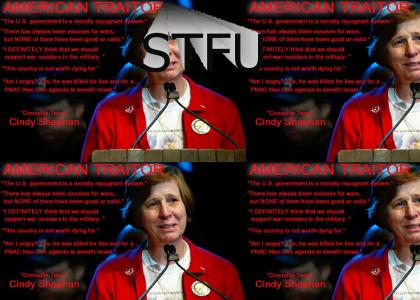 Cindy Sheehan please STFU