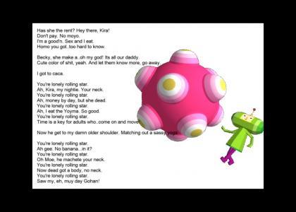Katamari Lyrics (Lonely Rolling Star Version 2.0)