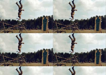 Spetsnaz Backflipping Hatchet Attack