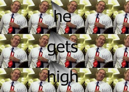 bush smokes the ganja