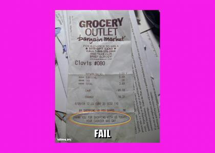 Something U didn't know about your Grocery Outlet cashier...