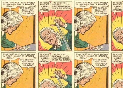 Spiderman gets caught by Aunt May!