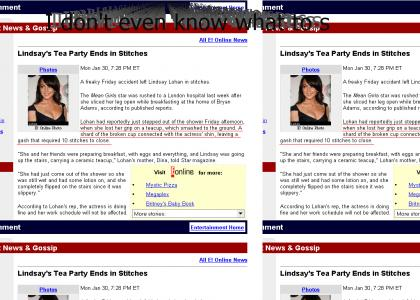 Umm Lohan fails at tea party