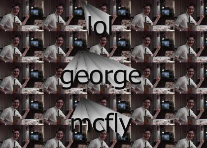 George McFly laughs