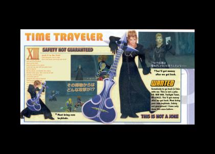 Time Traveler is in Organization XIII!