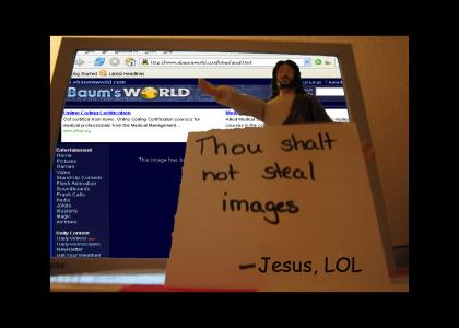 Jesus lays down the law (better pic?)