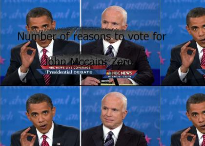 Number of reasons to vote for John McCain: