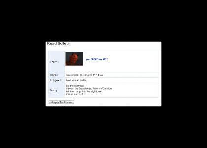 Mehrunes Dagon Myspace Suicide (Oblivion)