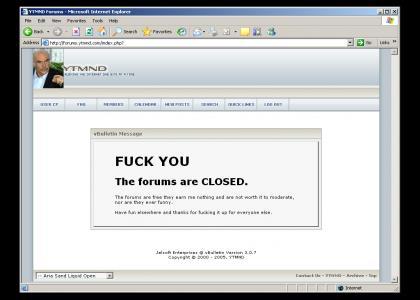 The End of YTMND forums!