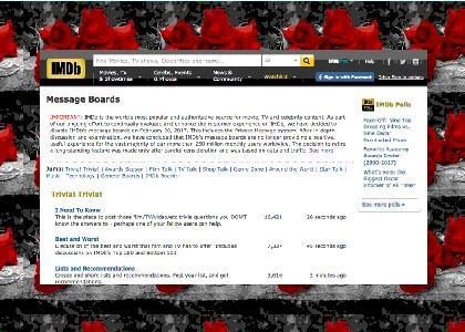 IMDb Message Boards Memorial