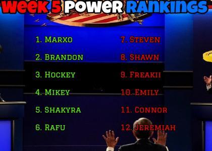 Power Rankings Week 5