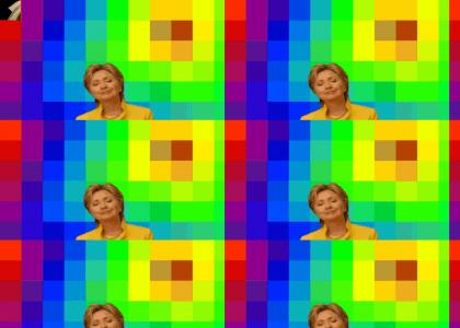crooked hillary on acid listening to aphex twin