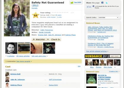 Safety Not Guaranteed: The Movie