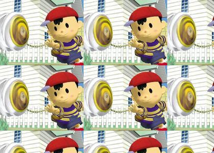 Ness plays with the yo-yo