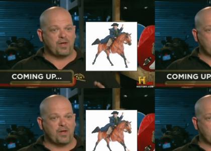 a horse runs all over the TV screen