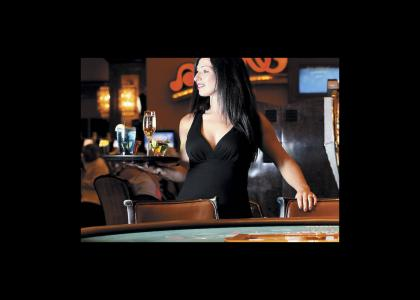 waitress at a cocktail bar