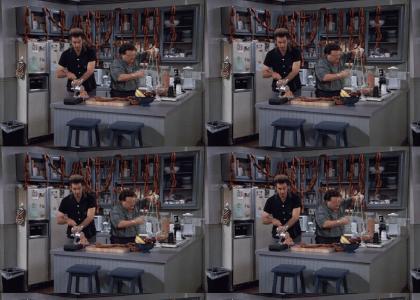 Kramer and Newman make Sausages