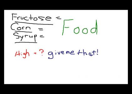 High Fructose Corn Syrup isn't a food