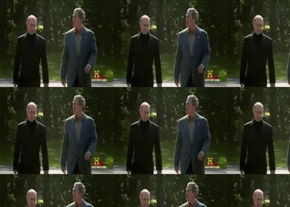 Putin and Bush Walk It Out