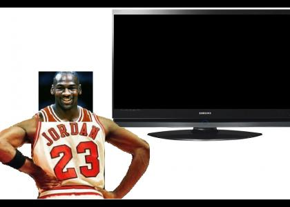 Michael Jordan watches 23 different channels on scottiepimpin's 23rd birthday and changes the channels with his mind