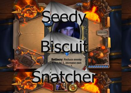 You never know when the Seedy Biscuit Snatcher strikes...